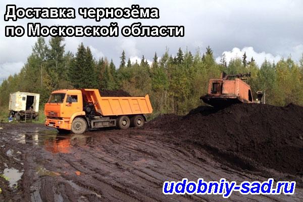 Доставка чернозёма по Московской области