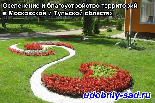 Озеленение и благоустройство территорий в Московской и Тульской областях