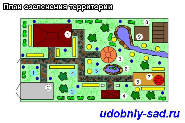 План озеленения территории