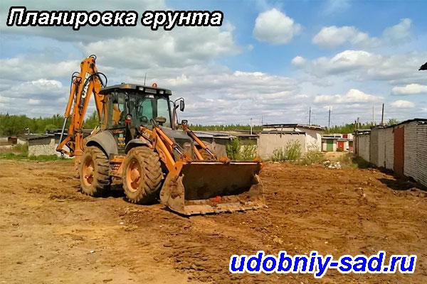 Планировка грунта в Московской области. Планировка грунта в Тульской области.