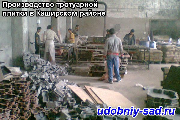 Производство тротуарной плитки в Каширском районе
