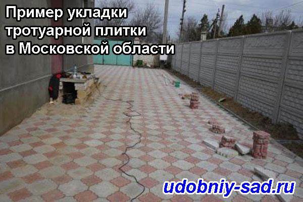 Пример укладки тротуарной плитки в Московской области