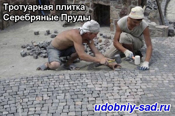 Примеры укладки тротуарной плитки: Серебряные Пруды