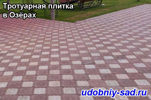 Пример укладки тротуарной плитки Клевер Краковский (или Гжелка) на даче в Озёрах