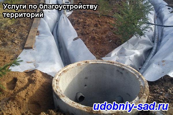 Дренажные работы в деревне БайдикиЯсногорского района Тульской области