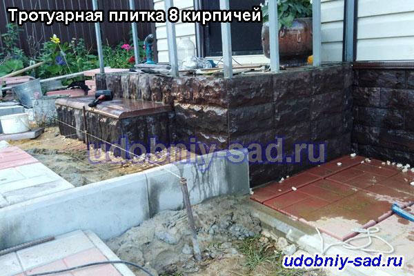 Облицовка фасада диким камнем в селе Антипино Ступинской области