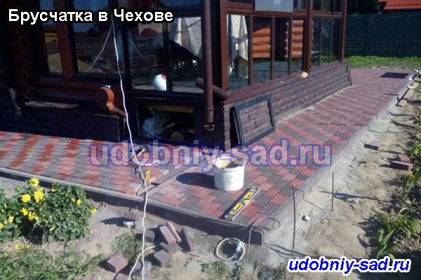 Установка бордюров на даче (Чеховский район)