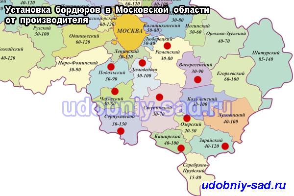 Установка бордюров в Московской области