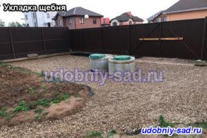 Укладка щебня в селе Лужники Ступинского района