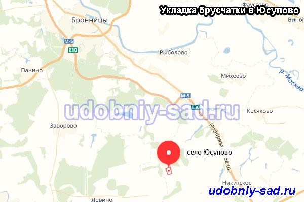 Укладка брусчатки в селе Юсупово Раменского района