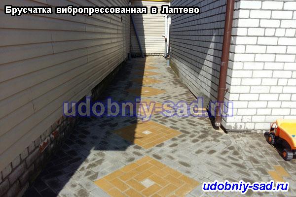 Примеры укладки вибропрессованной брусчатки в Раменском районе Московской области