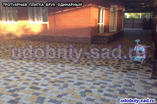 Характеристики тротуарной плитки «брук одинарный»