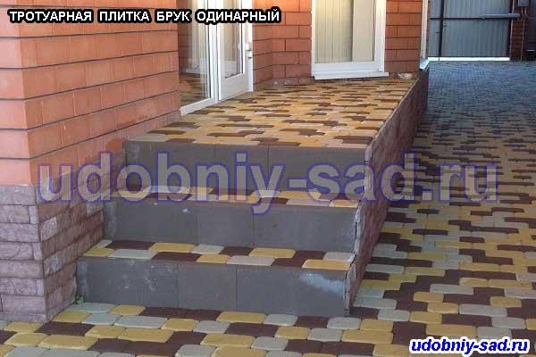 Примеры укладки тротуарной плитки БРУК