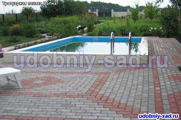 Примеры укладки тротуарной плитки Волна в Раменском районе