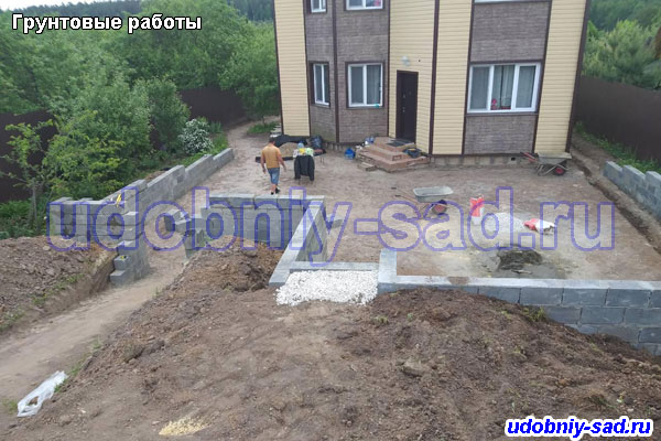 Пример работ по благоустройству территории в городе Домодедово