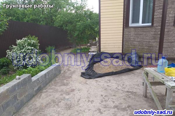 Подготовка грунта для укладки тротуарной плитки