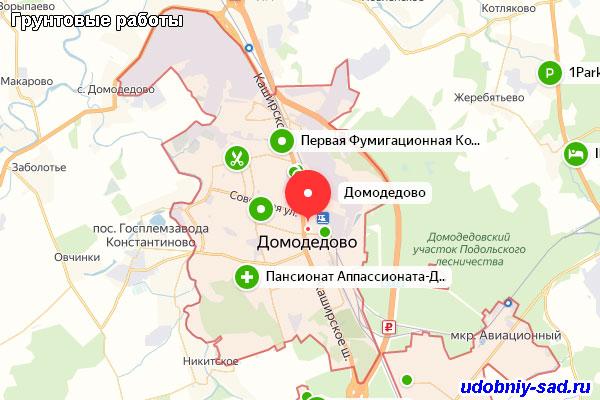 Грунтовые работы в Домодедовском районе Московской области