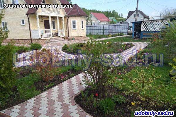 Мощение садовых дорожек тротуарной плиткой