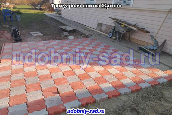 Примеры укладки тротуарной плитки Волна в Рамеском районе