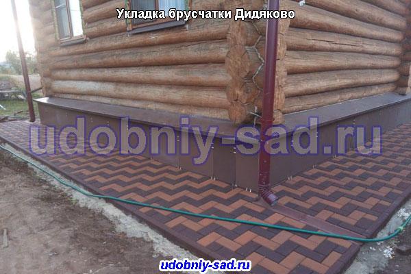 Укладка брусчатки на даче под ключ в деревне Дидяково (Чеховский район)