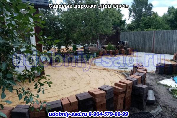Садовые дорожки «под ключ» на дачном участке в Власово Раменского района Московской области