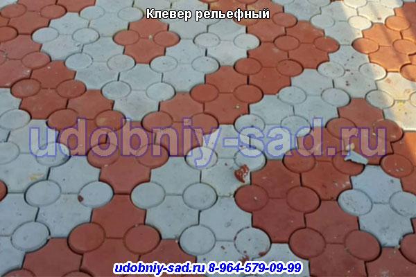 Тротуарная плитка Клевер рельефный