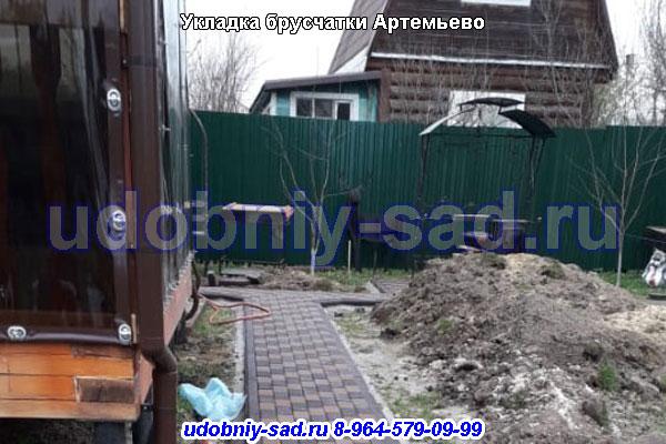 Укладка брусчатки под ключ в Артемьево Городской округ Домодедово